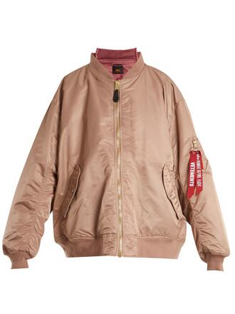 jacket bomber jacket pink