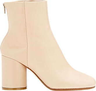 shoes maison martin margiela boots ankle boots nude boots nude shoes nude