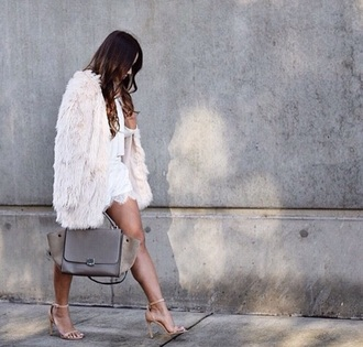 jacket white feathers