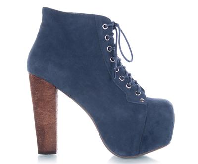jeffrey campbell lita blue suede platform heel sz women pump bootie boot new ebay. Black Bedroom Furniture Sets. Home Design Ideas
