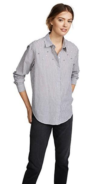 Rails shirt studded top