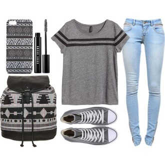 shirt phone cover jeans bag