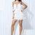 fringed halter mini dress