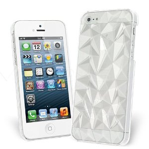 Amazon.com: Celicious Clear Transparent Ultra Slim Geometric Crystal Back Case for Apple iPhone 5s / iPhone 5   Apple iPhone 5s Case Cover: Cell Phones & Accessories