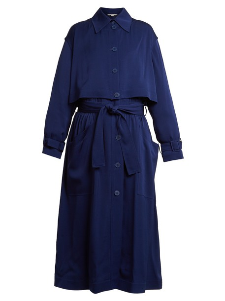 Stella McCartney coat trench coat blue