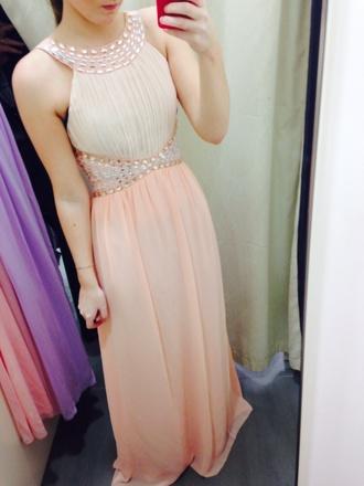 dress pink flowers bustier dress chiffon pale blue pale pink chiffon formal