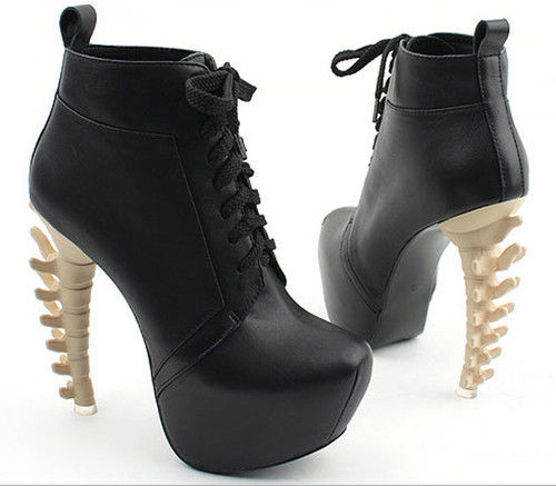 Leading the fashion women dinosaur skeleton high-heeled shoes platform boots sho | eBay