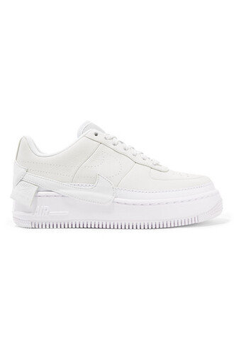 sneakers platform sneakers leather white off-white shoes