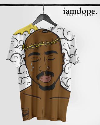 t-shirt dope tshirt dress 2pac tupac swag allover print thug life thug tshirt