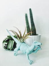 home accessory,pastel green,pastel,etsy,dinosaur,plants,terrarium,science,gift ideas,mothers day gift idea,kitchen,halloween decor
