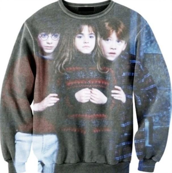 sweater harry potter hermione ron weasley oversized sweater