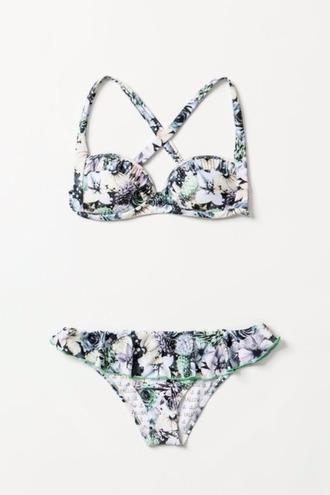 swimwear cute flower girly summer