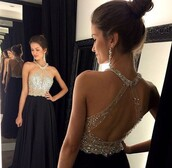 dress,prom dress,black dress,high neck,long prom dress,backless dress,backless,shop,sexy evening dresses,sexy evening dresses red,beaded prom dress,beaded crystal prom dresses,blue,pretty,cute,jewels,long dress,open back dresses,graduation dresses,gown,black prom dress,beaded dress,embellished dress