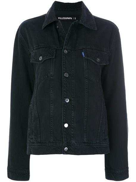 Filles à papa jacket denim jacket denim women cotton black