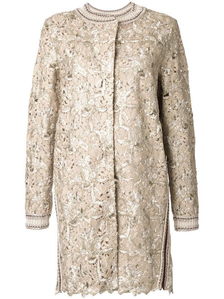 Ermanno Scervino coat metallic women grey