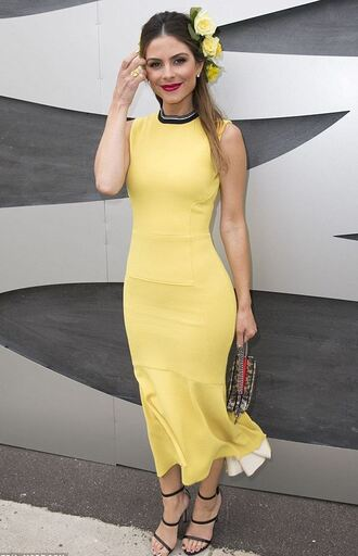 dress yellow yellow dress sandals maria menounos mini dress