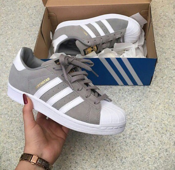 d583ac9a6e4 shoes size3 grey adidas superstars adidas shoes adidas white superstar grey  sneakers low top sneakers