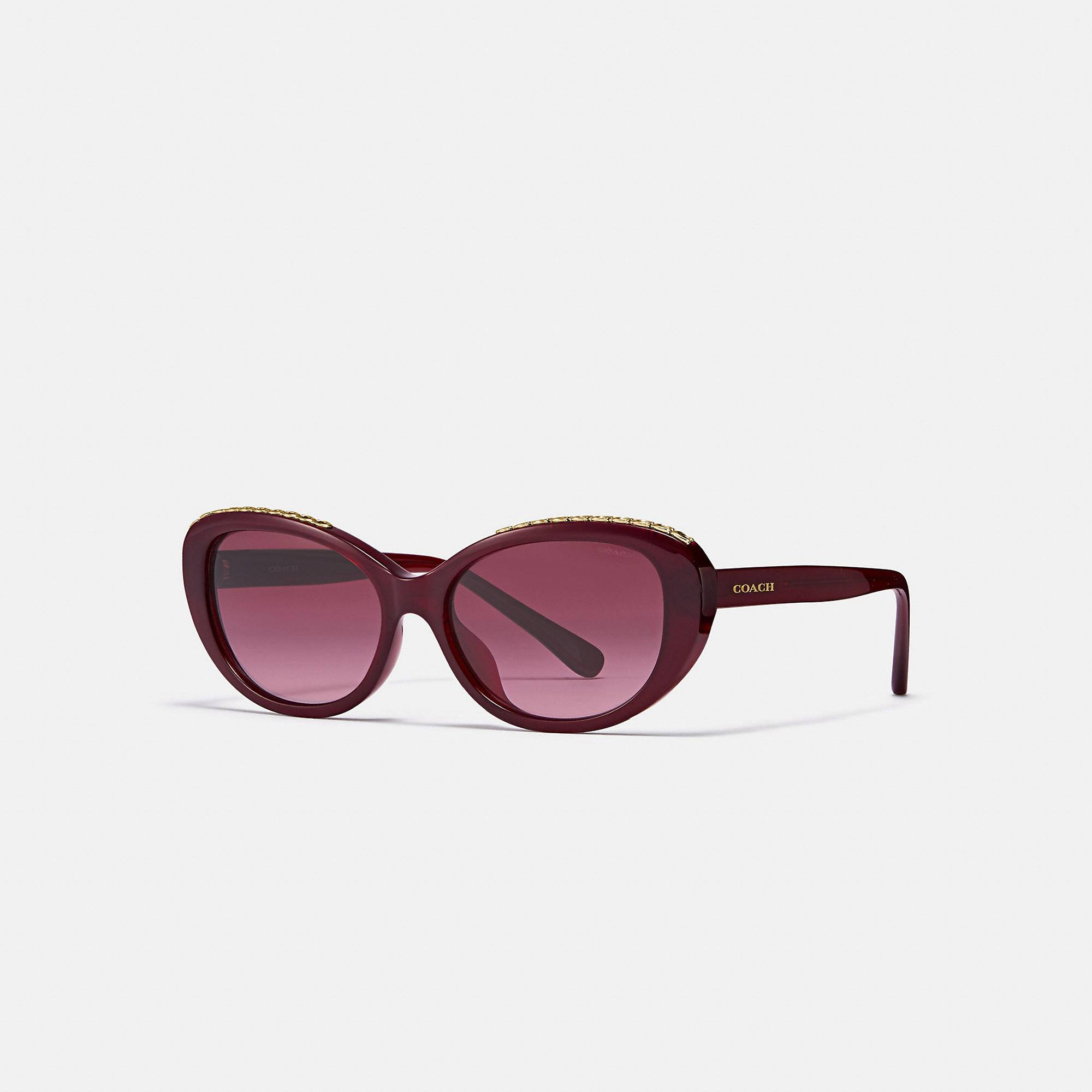 SIGNATURE CHAIN CAT EYE SUNGLASSES