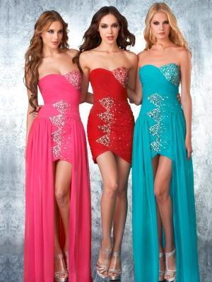 Buy Exquisite Sheath/Column Scoop Neckline Detachable Floor Length Prom Dress under 200-SinoAnt.com