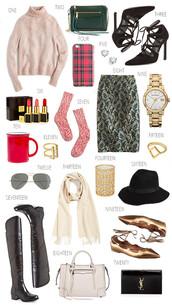 ivory lane,blogger,socks,skirt,black friday cyber monday,strappy heels,jacquard,jewelry,gold,ring,gold ring,turtleneck,sweater,crossbody bag,pumps,lace up heels,iphone case,iphone cover,diamonds,earrings,lipstick,cozy,metallic skirt,gold watch,mug,aviator sunglasses,scarf,candle,fedora,felt hat,knee high boots,satchel bag,ballet flats,clutch,j crew,rebecca minkoff,stuart weitzman,tom ford,burberry,madewell,rayban,tory burch,vince,gap,ysl,ysl bag,nordstrom