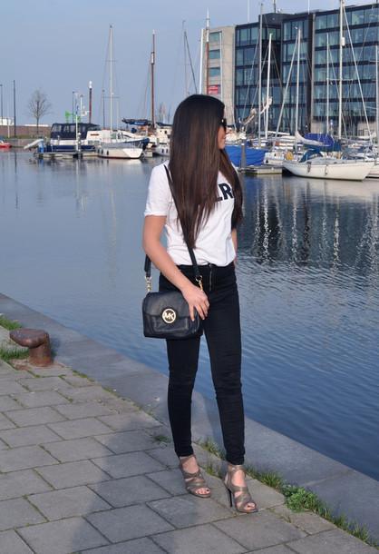 satisfashion shirt jeans shoes bag sunglasses
