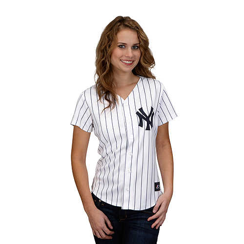 New York Yankees Women s Replica Jersey by Majestic Athletic - MLB.com Shop 0e555b51b3d