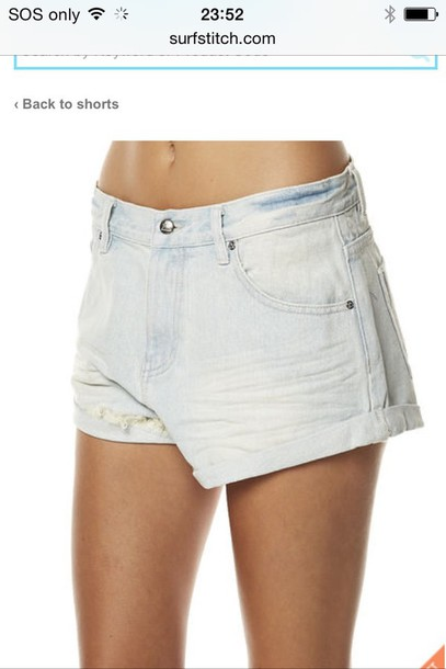 shorts denim high wait loose