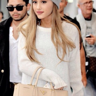 ariana grande knitted sweater jacket