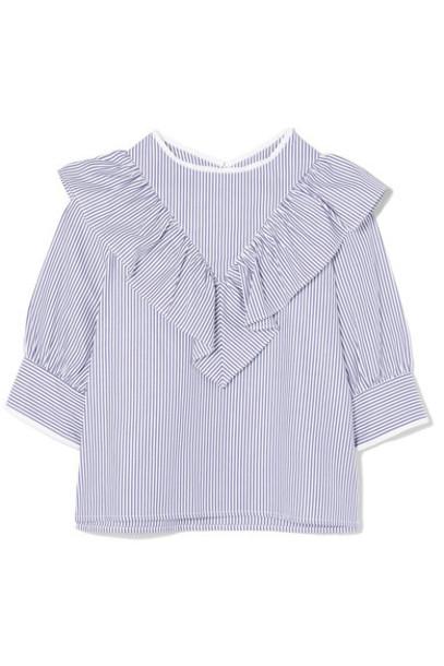 Atlantique Ascoli blouse cotton blue top