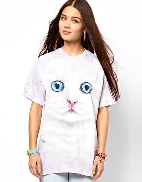 Mountain | The Mountain - T-shirt chaton blanc chez ASOS