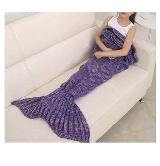 home accessory girl girly girly wishlist mermaid knit blanket