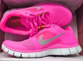 shoes,pink free run 2 running women's shoe,nike free run,nike,bright,sports shoes,girl,nike running shoes,light pink,fuchsia,fluo,sneakers,running,grey,box,free,run,women,sporty,sportswear,free time,fab,faboulous,pink,running shoes,lovely,nikey,hot pink,nike sneakers,love,nike shoes