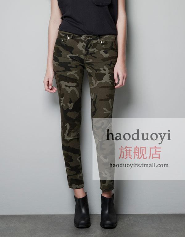 spring2014 Popular women's Camouflage pants slim elastic Camouflage pants military pants pencil pants haoduoyi-inPants & Capris from Apparel & Accessories on Aliexpress.com