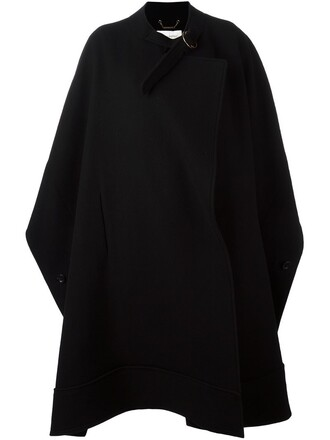 cape oversized black top