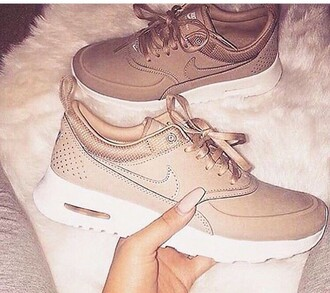shoes nike nike running shoes nike air nike roshe run nike sneakers nike shoes nike free run nike pro beige nude all nude everything sneakers pastel sneakers suede sneakers high top sneakers low top sneakers wedge sneakers