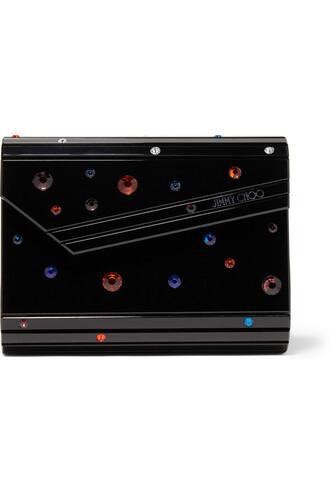 embellished candy clutch black bag