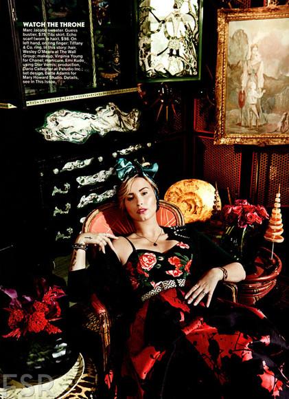 rose gypsy gypsy dress maxi dress demi lovato demi