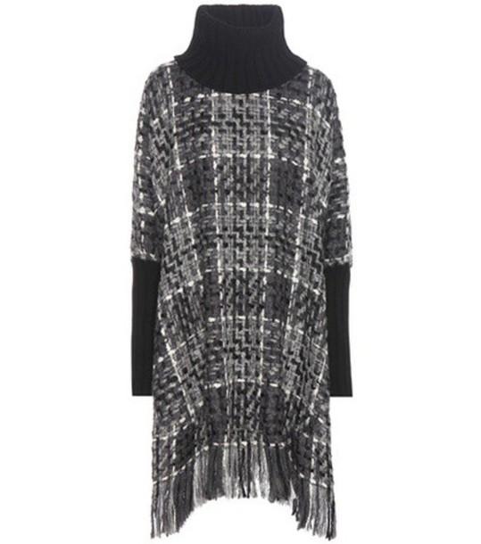 Dolce & Gabbana poncho cotton wool black top