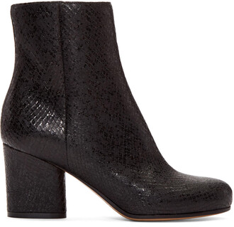 snake boots black shoes
