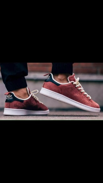 shoes stan smith adidas adidas shoes suede shoes suede suede sneakers burgundy mens shoes mens low top sneakers