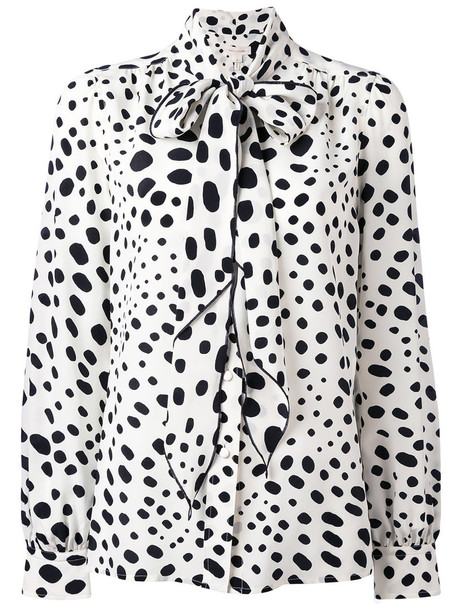 Marc Jacobs - embroidered blouse - women - Silk - 12, White, Silk