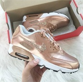 shoes,rose gold nike air max