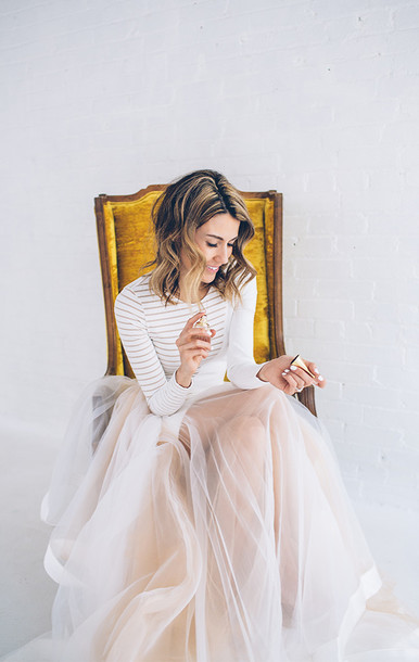 hello fashion blogger princess dress striped top tulle skirt dress top skirt shoes prom