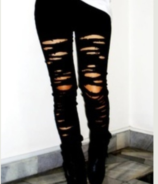 Jeans, Ripped Jeans, Black Ripped Jeans, Weheartit