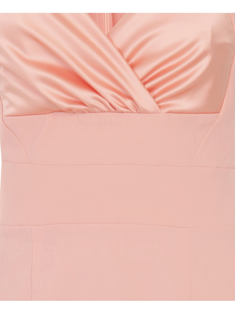 Cornellia Bodycon Dress with Satin Bust Peach from Hybrid Fashion