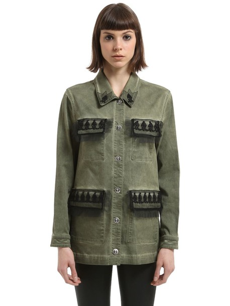 JOHN RICHMOND Washed Cotton Jacket in green