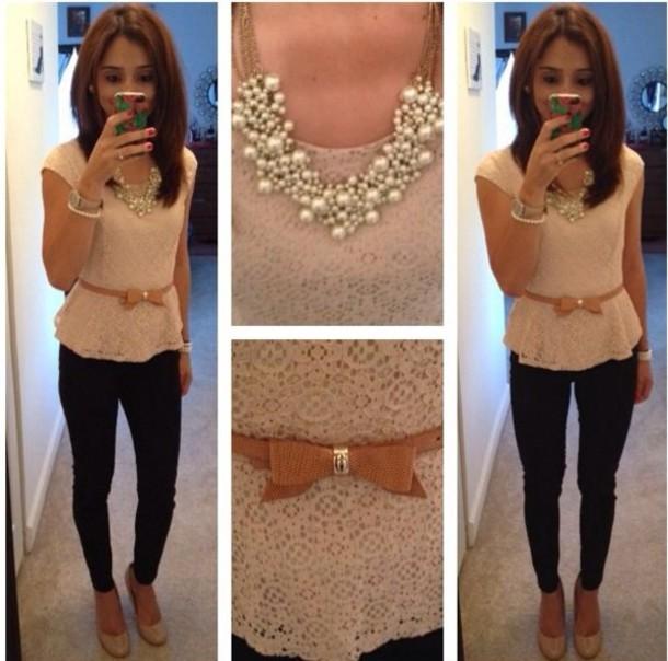 blouse jewels belt