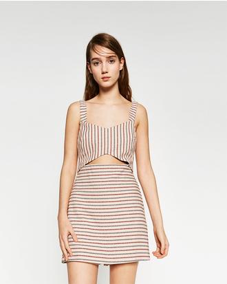 dress cut-out dress stripes