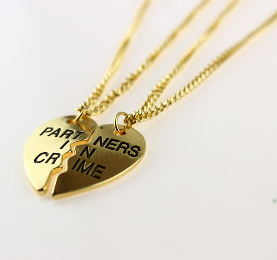 Cool Partner in Crime BFF Necklace wholesale