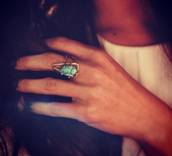 jewels ring turquoise jewelry torquioise ring blue stone ring nail polish turquoise triangle gold turquoise ring
